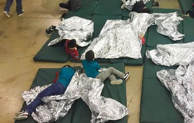 "Trump has repeatedly said Democrats are to blame and cited a ""horrible law"" that separates families. (U.S. Customs and Border Protection's Rio Grande Valley Sector via AP)"