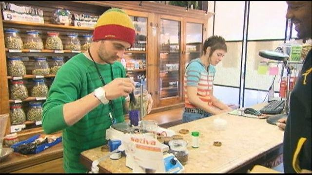 Colorado dispensaries are one of the most popular businesses on this new year, as the state's recreational marijuana laws make smoking pot legal.  But next door in Kansas, the idea isn't so popular.